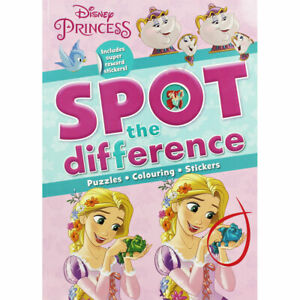 Disney Princess Spot the Difference: Kids fun Activity Book Travel Gift NEW