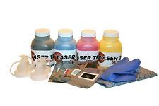 4pk Laser Tek Services Toner Refill +Chips for HP CC530A CC531A CC532A CC533A