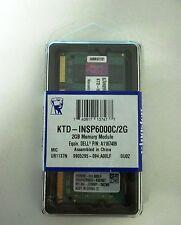 Nuevo Kingston 2 Gb So Dimm DDRII 800 MHz PC2 6400 ktdinsp 6000C/2G Ktd Insp 6000C/2G