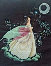 """LARGE LUXURY New Completed finished Cross stitch""""MOON FAIRY""""home decor gifts"""