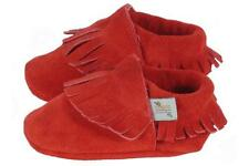 Project Five Red Suede Moccasin Shoe Baby Infant Toddler Crib 6-12 Month NWOB