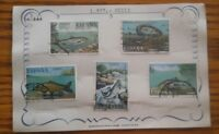 000 5 Espana Spain Fish Stamps 1 2 3 4 6 PTA  Postmarked