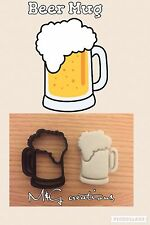 Beer 1 mug pitcher Cookie Cutter Icing Fondant Cake Uk Sell Topper Biscuit Mold