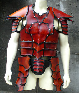 Brown Leather vest medieval armour LARP Costume Armor Halloween Leather costume