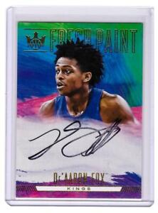 2017-18 Court Kings De'Aaron Fox Rookie Auto Autograph Fresh Paint Card !!!