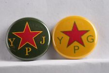 "Rojava Lot 2 Protection Unit Democratic Union Party 1"" badge pin button YPJ YPG"
