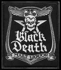 Patch Black Death Malt Liquor WKRP Dr. Johnny Fever Skull Punk Beer Party NFP025