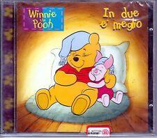 "WINNIE THE POOH  ""In due e' meglio""  CD 1997  WALT DISNEY"