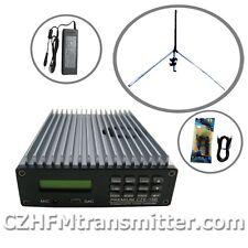0W-15W PREMIUM CZE-15B PC Control FM Transmitter Broadcast GP antenna TNC kit