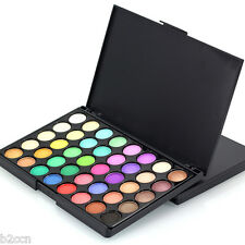 Pro 40 Colors Cosmetic Matte Eyeshadow Cream Makeup Palette Shimmer + Brush Set