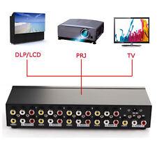 1-In 8-Out 8 Ports RCA Video Audio AV Switch Switcher Selector HDTV Splitter Box