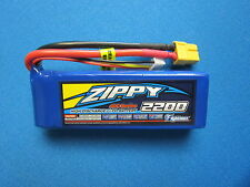 ZIPPY 2200mAh 3S 11.1V 40C LIPO BATTERY T-REX 450 DJI PHANTOM FPV QUAD E325 XT60
