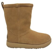 UGG Classic Short Chestnut Waterproof Leather Sheepskin Boots Size US 6