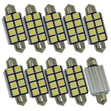 4 x Festoon Bulb 41mm 8smd C5W 5050 LED CANBUS Car License Plate read light Dome