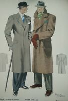 GRAVURE de MODE Paris- hiver1941/42 signé Hamjic.