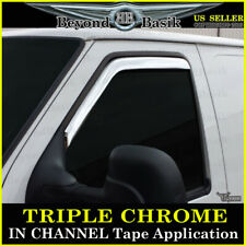 1992-2014 Ford E-SERIES WAGON E150 E250 E350 IN CHANNEL Chrome Door Vent Visors