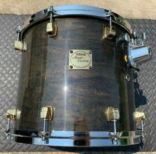 "Yamaha Maple Custom 14"" Tom - 90s Transparent Black / Gold Lugs"