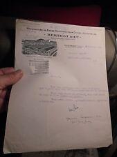 Ancien Papier à Entète Berthet Pieces détachées Cycles Automobile Villeurbanne