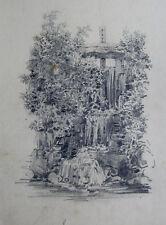 Naturstudie, am Stauwehr, Frankreich um 1850