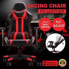 High Back Racing Gaming Chair Race Car Seat Adjustable Reclining Executive Task