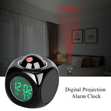Smart Alarm Clock Digital LED Projection Time Temperature Projector LCD Display