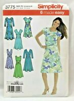 2007 Simplicity Sewing Pattern 3775 Womens Dress 6 Styles 12-20 Wardrobe 5191F