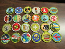 78 Boy Scout Solid Embroidered, Plain Plastic Backed Merit Badges   c21