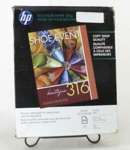 """HP Q5445A Matte Brochure & Flyer Paper 100 Sheets 8.5"""" x 11"""" [ 48 lb ]"""