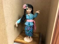 Porzellan Puppe 43 cm. Top Zustand