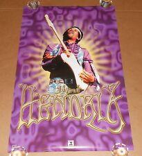 Jimi Hendrix Purple Poster 2001 Original 34x22 Funky #3096 Rare