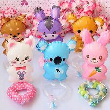 Set of 6 different air-fill wrist balloons Dog, Rabbit, Cat, Donkey, Bear, Koala