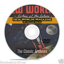 New Worlds, 91 Vintage Pulp Magazine, Golden Age Science Fiction DVD C63