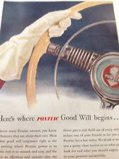 N1-6 Ephemera 1940s Ww2 Advert Pontiac Automobile Good Will Begins