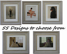 Jack Vettriano Framed Art Prints 33cm x 28cm 55 designs to choose GREY frame