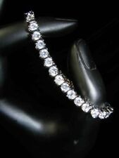 Bridesmaid Prom Simulated Russian Diamond 4mm White Gold Filled Bracelet b179
