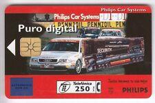 EUROPE  TELECARTE / PHONECARD .. ESPAGNE 250P PRIVE AUTO AUDI PHILIPS PUCE NEUVE