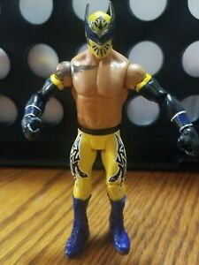 "WWE 2011 Mattel Sin Cara Yellow White 6.5"" Wrestling Figure Aew Lucha Wrestler"