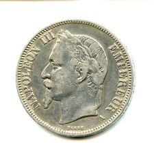 5 francs argent Napoléon III 1869 A n°E849
