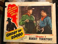 Ghost Of Zorro 1949 Republic western serial lobby card Clayton Moore