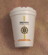 "Unused Medium Dunkin Donuts Boston Bruins ""Brewed For This"" © 2016 Styrofoam Cup"