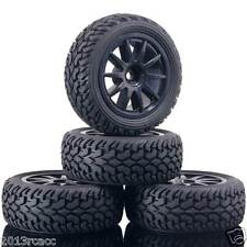 Rubber Tires 910B-8019 Wheels Fit RC HSP HPI 1:10 On-Road Refit 1:16 Rally Car