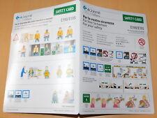 Safety instruction card CONSIGNE de SECURITE air dolomiti LUFTHANSA E190-E195
