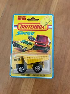 Vintage 1975 Matchbox Lesney Superfast No. 58 Faun Dump Truck Die Cast MIP NOS