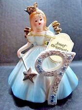 Josef Originals 9 Years Birthday Girl Cake Topper Figurine Hang Tag Seal Signed