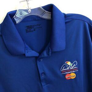 Nike Arnold Palmer Invitational Blue Golf Polo Shirt Large