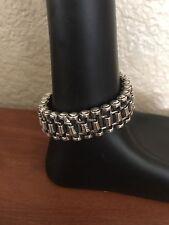 "Versani 8"" Mens Heavy Sterling Silver .925 Bracelet"