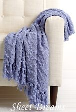 Bedford Cottage Kennebunk Home Rockaway Heather Periwinkle Throw Blanket New