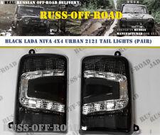 BLACK LADA NIVA 4x4 URBAN 2121 2131 21213 21214 21218 LED TAIL LIGHTS (Pair)