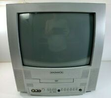 """13"""" Magnavox CRT Tube TV/DVD Player (Working 100%) Television MWC13D5 Silver"""