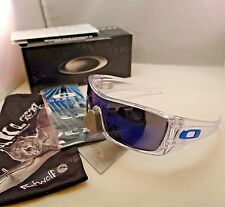 OAKLEY BATWOLF POLISHED CLEAR WITH ICE IRIDIUM SUNGLASSES 9101-07 AUTHENTIC NEW
